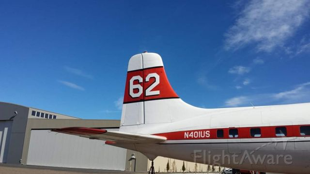 Douglas DC-7 (N401US) - Tanker 62, Madras, Oregon 2015