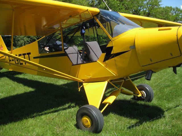 Piper L-21 Super Cub (F-GETT) - Bright new..sortie datelier pour retour à Mulhouse Habsheim..8 mois de travail pour la beauté..br /SL
