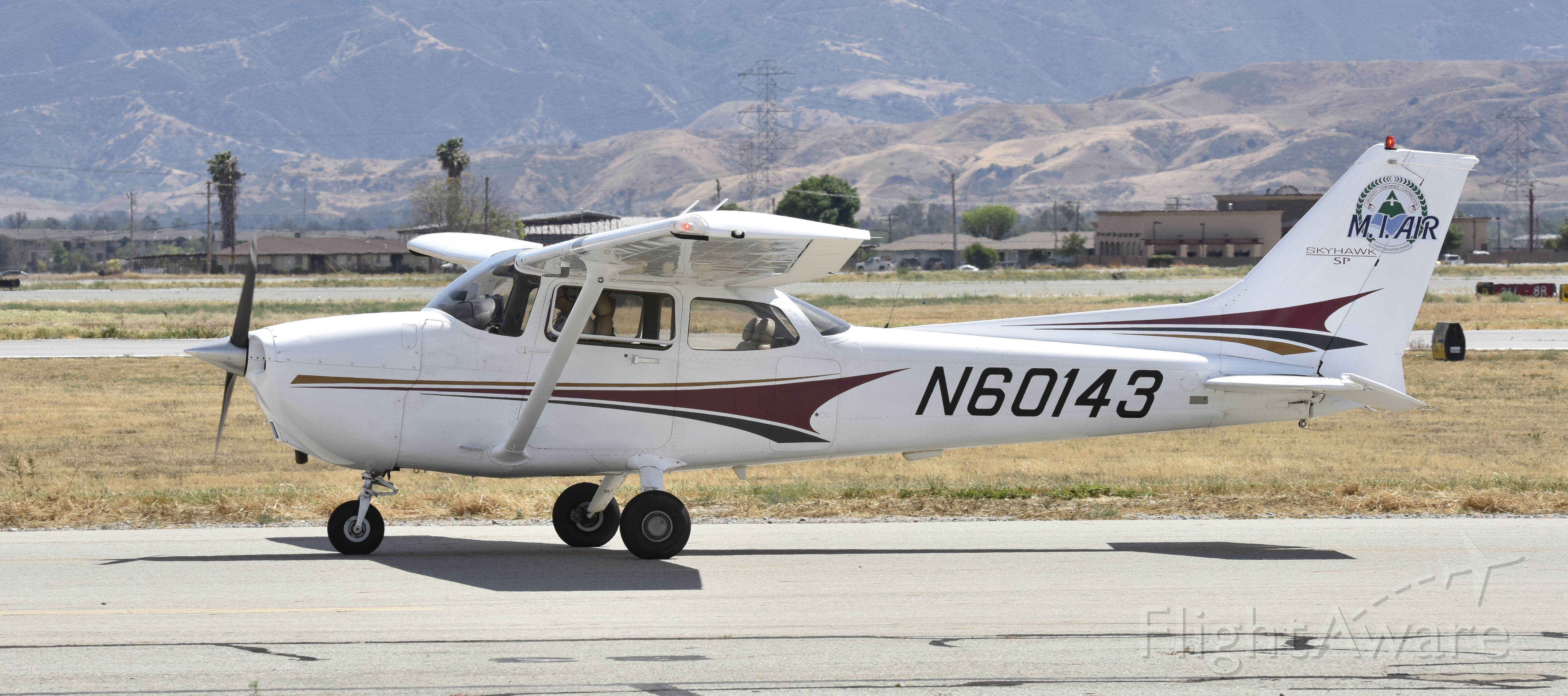 Cessna Skyhawk (N60143) - Taxiing for departure at Chino
