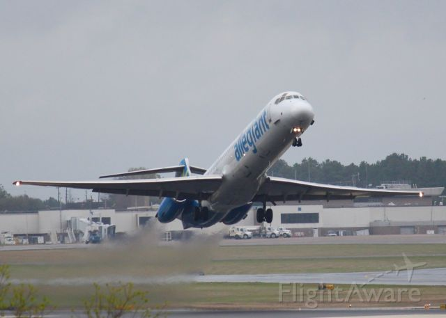 McDonnell Douglas MD-83 (N887GA) - At Shreveport Regional. 1990 MCDONNELL DOUGLAS DC-9-83(MD-83)