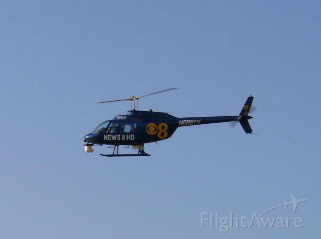 """Bell JetRanger (N688TV) - """"Chopper 8"""" comes down to the pad after the 5 o"""