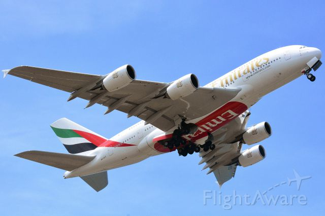 Airbus A380-800 (A6-EES) - Taking Off RW12