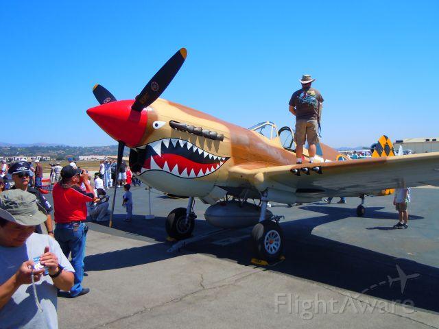 CURTISS Warhawk (UNK) - At Camarillo, CA airshow 8-21-10