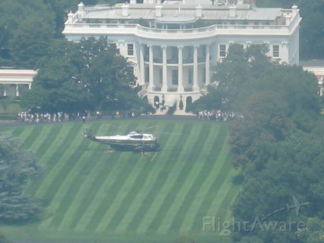 — — - Taken from the small window on top of the Washington Monument.