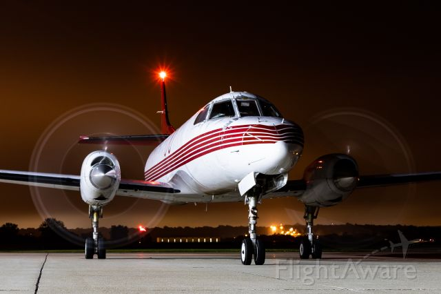 Fairchild Dornier SA-227DC Metro (N567TR) - 26 year old SW4 starting up and preparing to taxi to 10 late at night