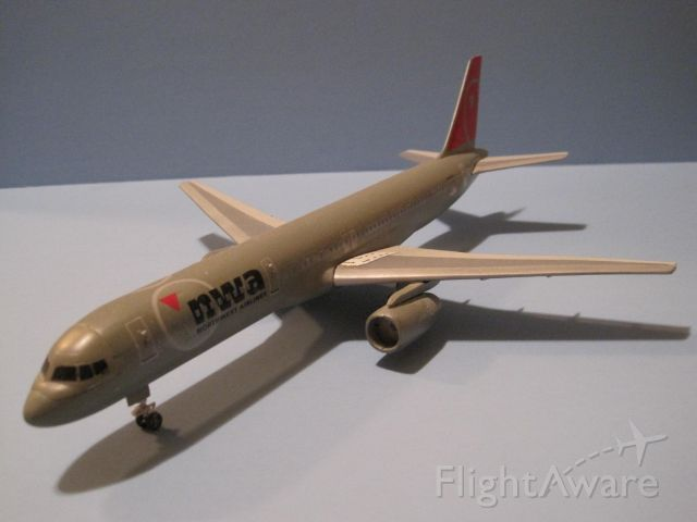 B757 — - Here is another model of a Boeing 757 in Northwest markings.  Also it is 1/144 scale from Minicraft.
