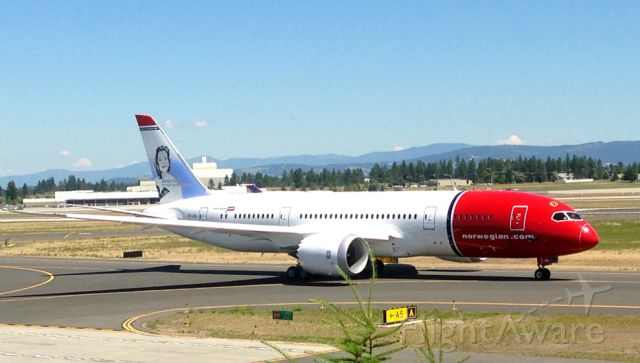 Boeing Dreamliner (Srs.8) (LN-LNA) - Previously EI-LNA. <br /><br />What later became Norwegian Long Haul