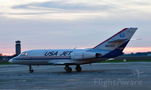 Dassault Falcon 20 (N811AA) - USA Jet Dassault Falcon-20D N811AA in Willow Run Airport