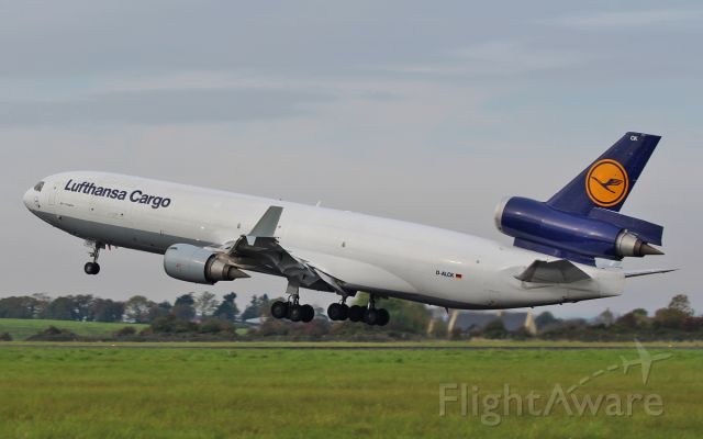 Boeing MD-11 (D-ALCK) - lufthansa cargo md-11f d-alck dep shannon 14/10/15