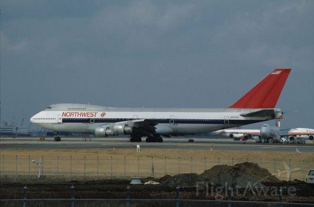 Boeing 747-200 (N641UA) - Departure at Narita Intl Airport Rwy34 on 1990/02/17