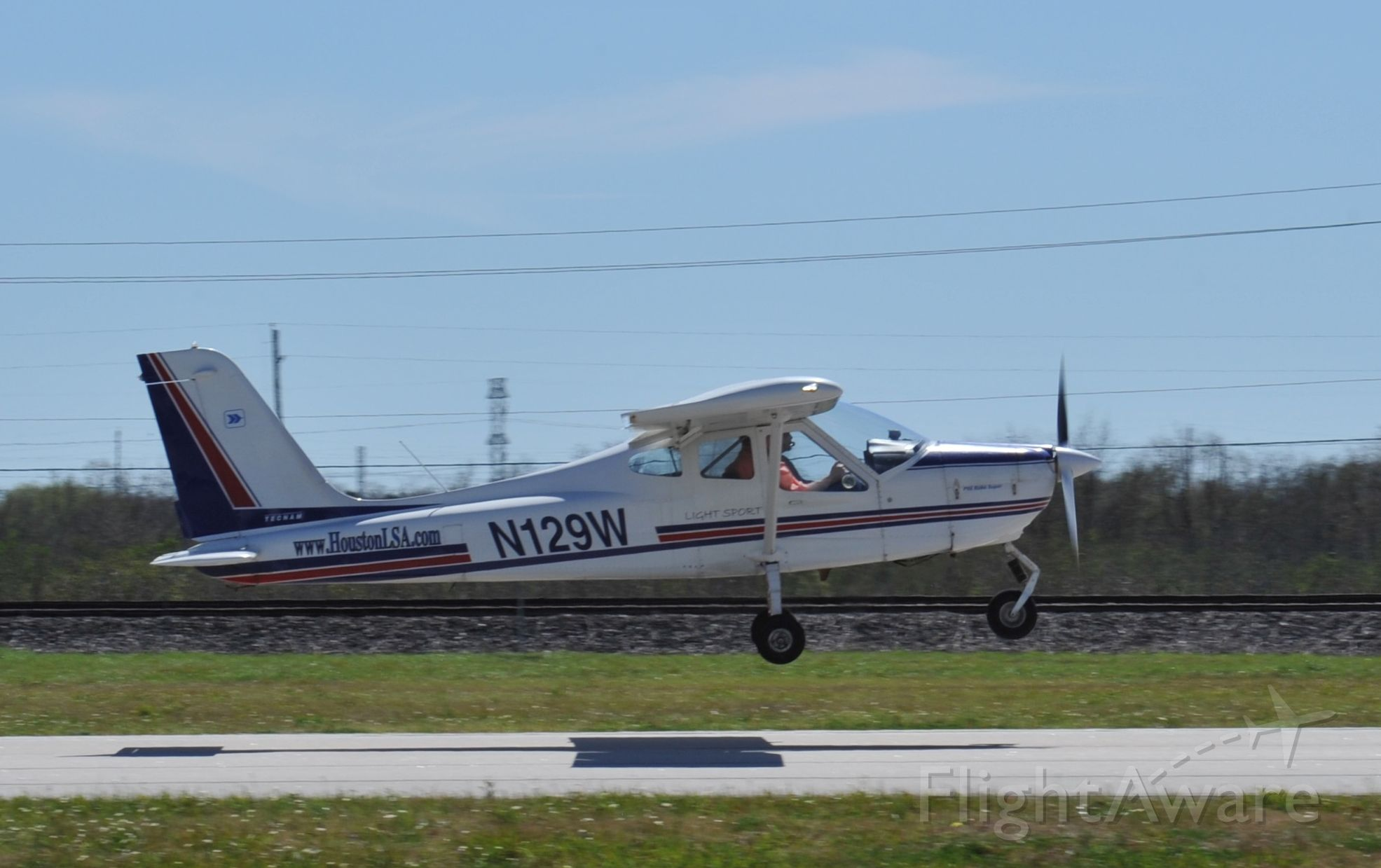 N129W — - Light Sport Tecnam P-92 Echo Super takeoff runway 27 KAXH