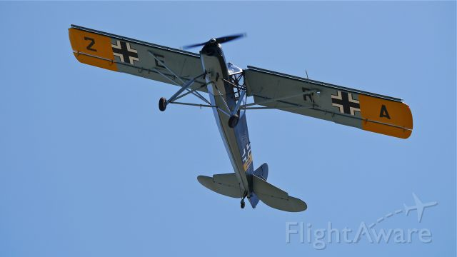 FIESELER Storch (N436FS) - FHCs Fieseler F1-156-C2 Storch (Ser#4362) performs at Flying Heritage Collections SkyFair on 7/26/14.