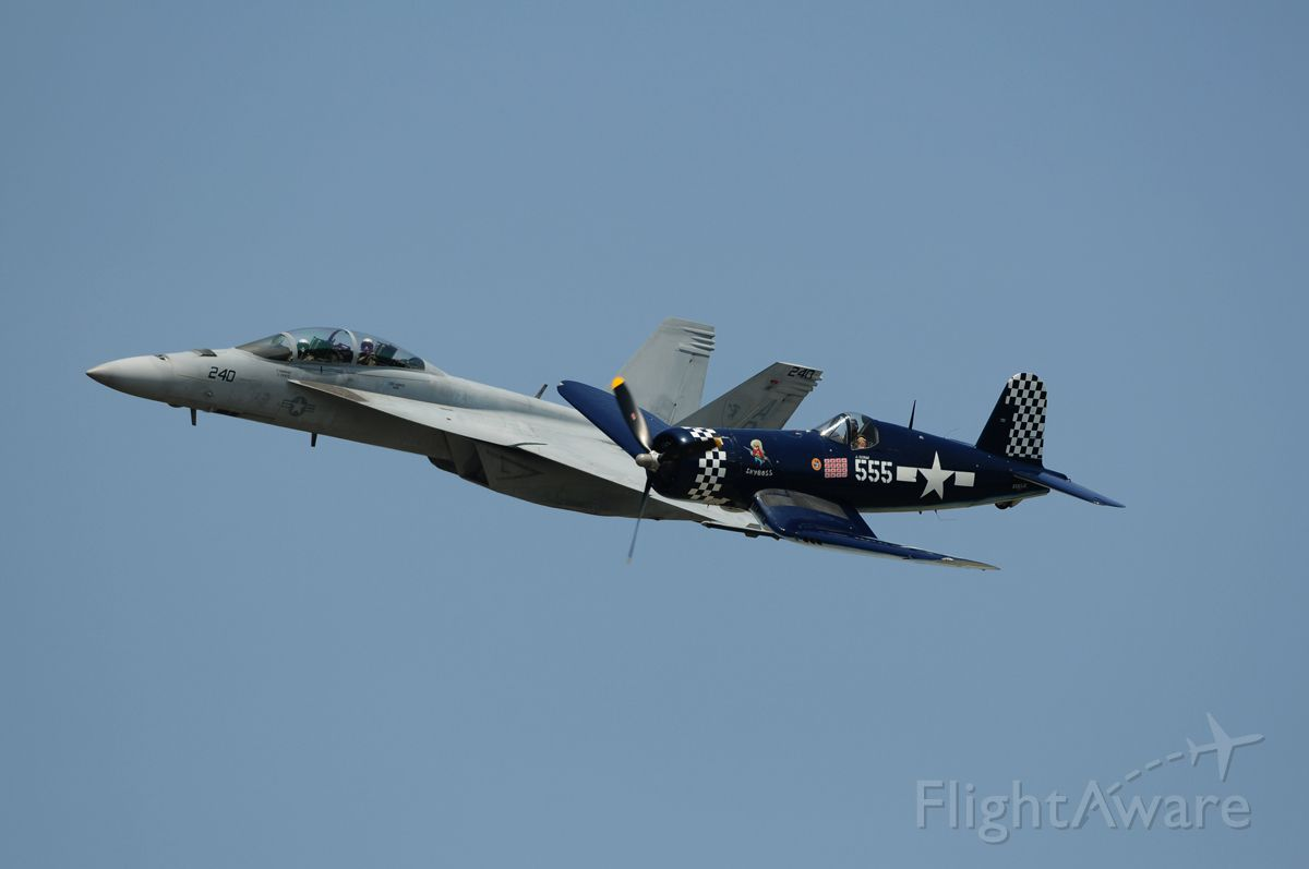 NX83JC — - 2012 Memorial Day Weekend, Republic Airport<br />Corsair with F-18F