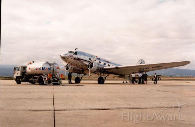 Douglas DC-3 (VH-ABR) - Ansett DC-3 at Launceston in the late 1990
