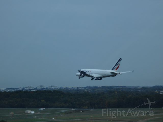 — — - A380 landing at Dulles. Taken from the Air and Space Museum observation tower