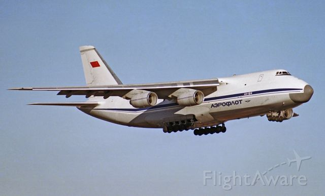 Antonov An-124 Ruslan (CCCP82008) - On short final for runway 23, this was the first visit of an An-124 to Adelaide, January 15, 1990.