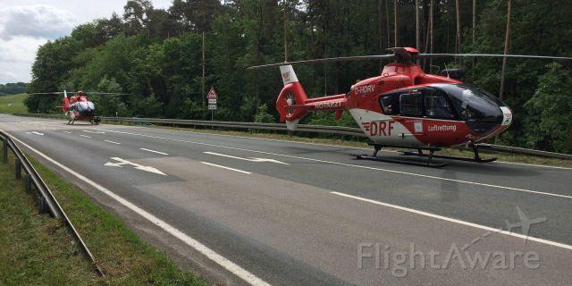 Eurocopter EC-635 (D-HDRV) - EC-135 + EC-H145 , accident, country road at D-Nürnberg( DRF )
