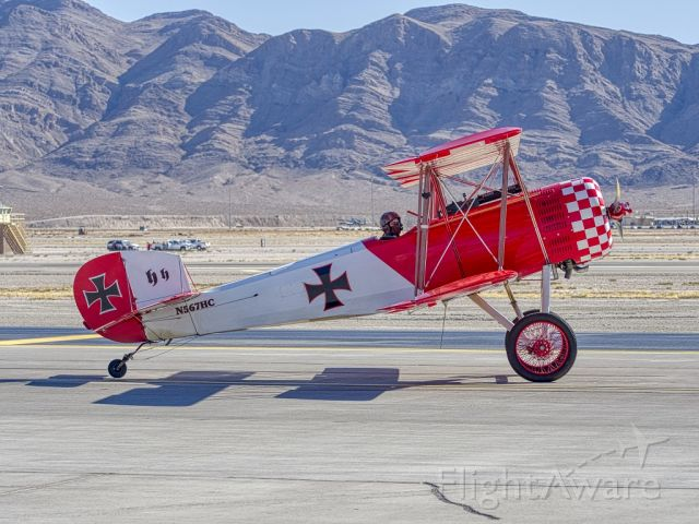 CULP Sopwith Pup (N567HC) - The Immortal Red Baron on his way to battle at 2019 Aviation Nation Nellis AFBbr /Kitfox III