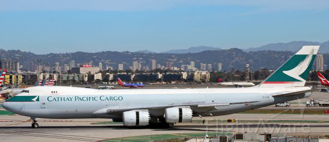 BOEING 747-8 (B-LJB) - A Cathay Pacific Cargo B748 (B-LJB) is just beginning to turn toward me after landing on LAX