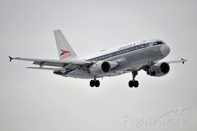 Airbus A319 (N745VJ) - Allegheny Heritage Jet landing 5-L on 02-02-21