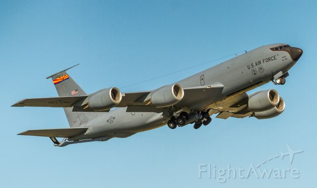 Boeing C-135FR Stratotanker (14829) - Departing YYZ as 'Copper 4', we don't know why she was here but we're glad she came!
