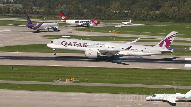 Airbus A350-900 (A7-ALL) - A350 from Doha touch down R28 while some others awaits clearance to R32
