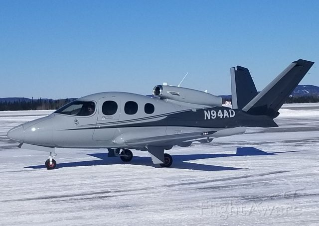 Cirrus Vision SF50 (N94AD) - Parking in position.