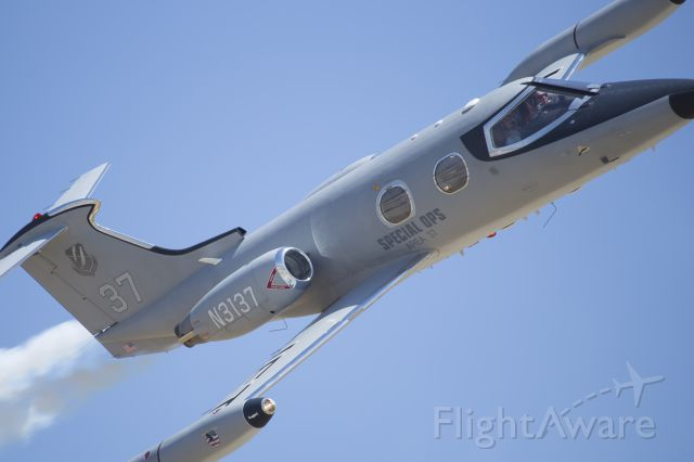 Learjet 24 (N3117) - Clay Lacy in tight on the show line at the 2015 Planes of Fame Airshow in Chino, CA.