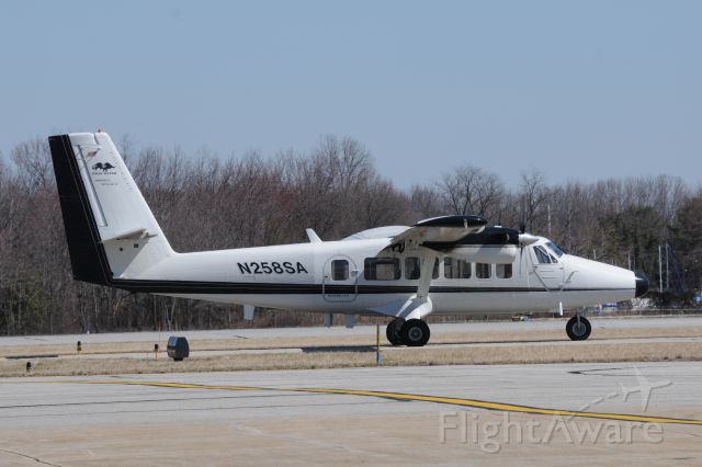 """De Havilland Canada Twin Otter (N258SA) - Tail Markings - pictures of """"Twin Otters"""" also """"Airborne Research"""" conducts research for NASA."""