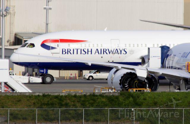 Boeing 787-8 (G-ZBJA) - First British Airways 787 at Paine Field April 24, 2013.