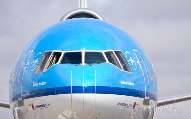 Boeing MD-11 (PH-KCE) - The beautiful MD-11 at the Toronto street fest only a flew flights away from her last one...