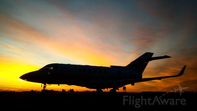 Raytheon Hawker 800 — - Hawker 800 sunrise