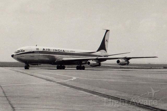 Boeing 707-100 (VT-DJI) - Air India B707-437 at Prague airport, 1963
