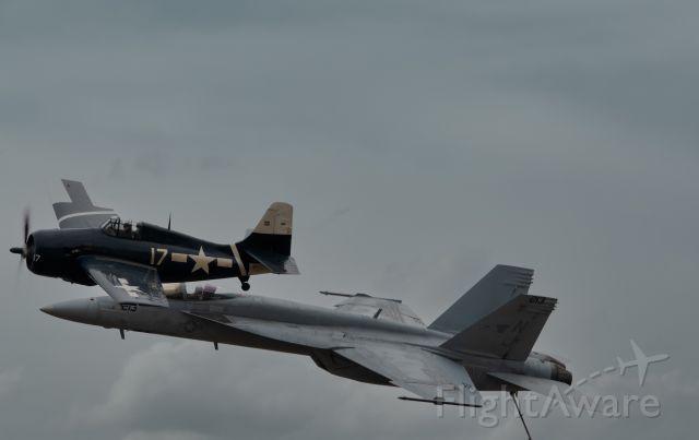 McDonnell Douglas FA-18 Hornet (VFA122) - f18&fm2 wild cat legacy flight