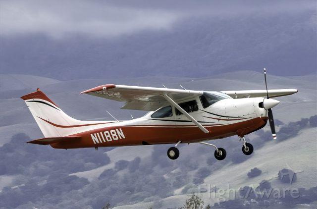 Cessna Skylane RG (N1188N) - Cessna 182R over Livermore Municipal Airport (CA). February 2021.