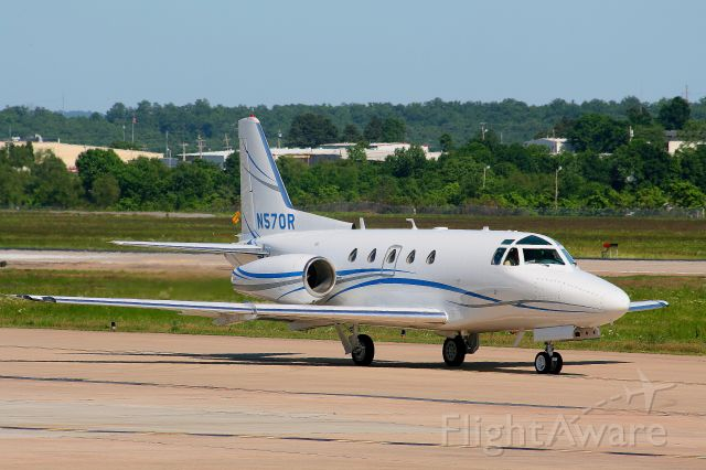 North American Sabreliner (N570R) - No doubt this is one of the best looking Sabreliners out there.