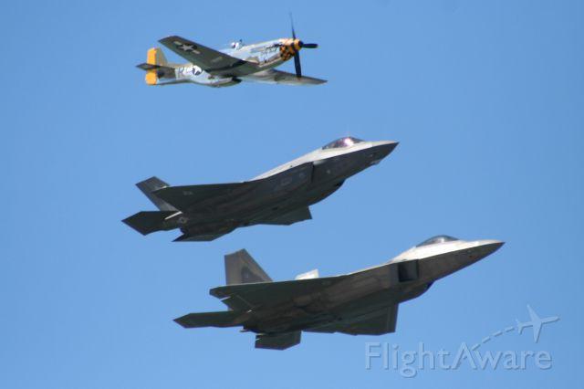 — — - P-51 F-22 F-35