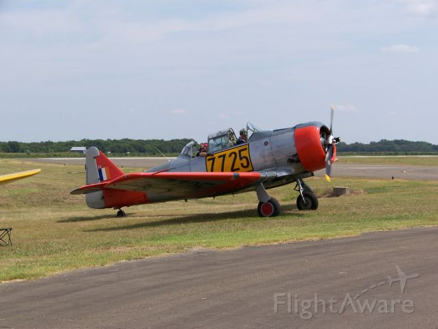 N725SG — - This former South African Air Force T-6 trainer now belongs to the Flight of the Phoenix museum in Gilmer, Texas