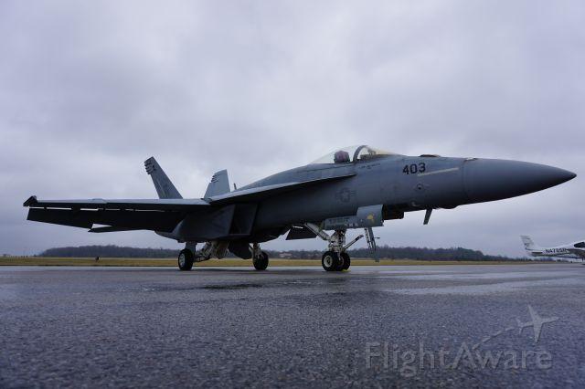 McDonnell Douglas FA-18 Hornet — - F/A-18 on the ramp