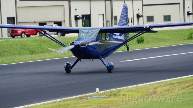 Piper 108 Voyager (N6532M) - Rolling out the usual wheel landing