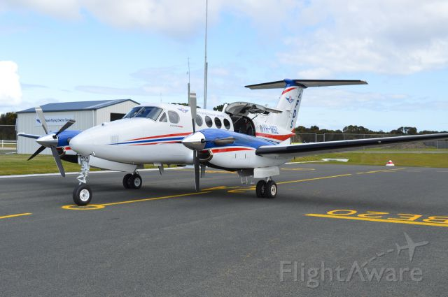 Beechcraft Super King Air 200 (VH-MSZ) - RFDS VH-MSZ on a medical retrieval at Flinders Island, Sept 2015