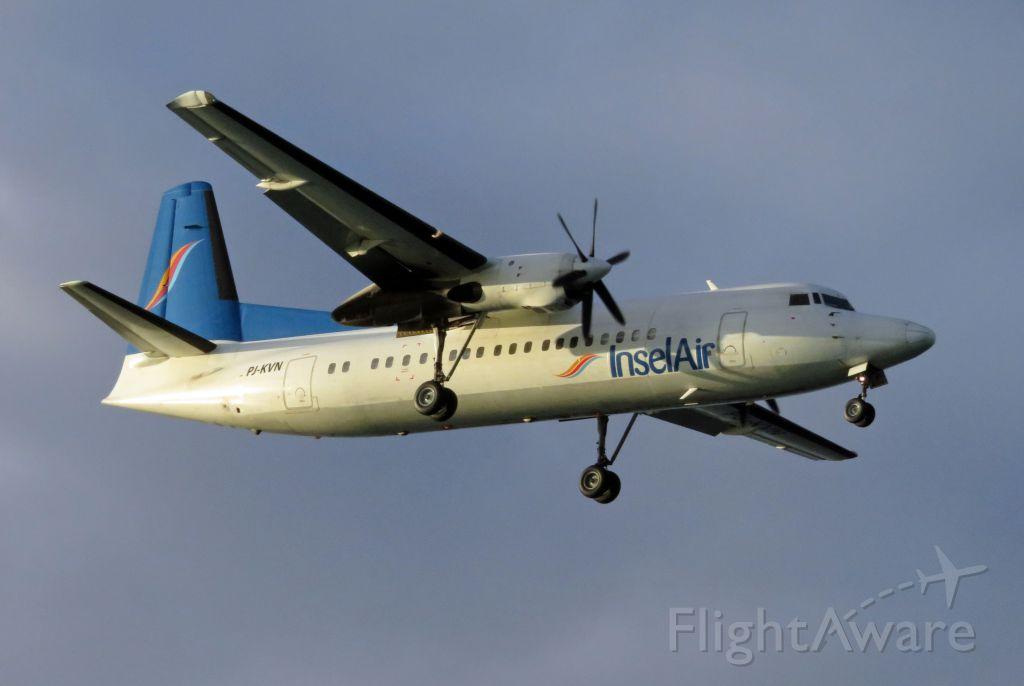 Fokker Maritime Enforcer (PJ-KVN) - INC305 TNCC-TNCB short final for RWY 10.