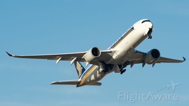 Airbus A350-900 (9VGSHD) - Gear up on SQ's 9V-SHD out of Perth.