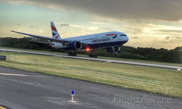 Boeing 777-200 — - British Airways departing 1L at TPA.