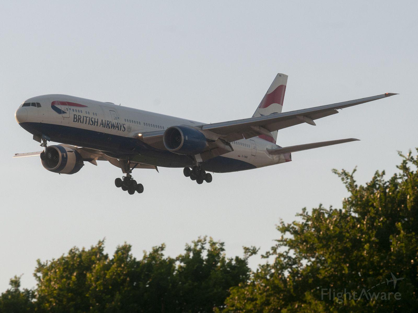 Boeing 777-200 (G-YMMI) - Late evening arrival for SpeedBird 193 4/8/2020