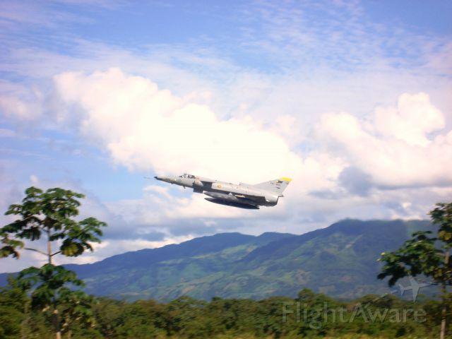 IAI Kfir (FAC3043) - Kfir C-7 takes off from Palanquero AFB