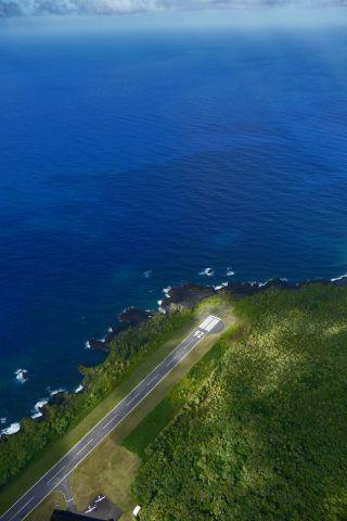 — — - Hana Airport on the island of Maui.