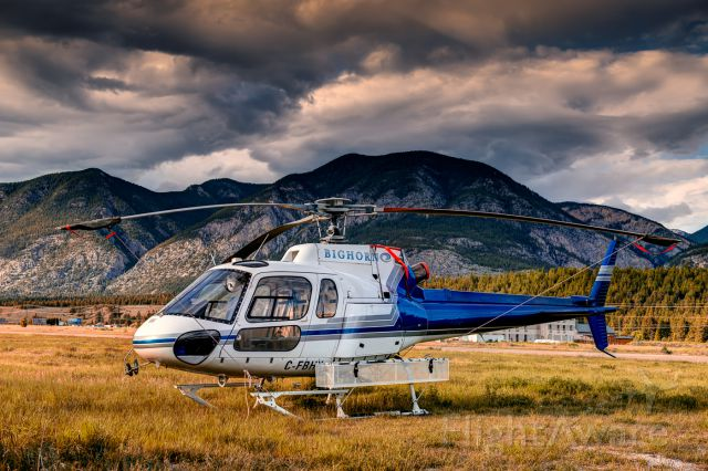 Eurocopter AS-350 AStar (C-FBHK) - Waiting on a medevac flight in Invermere, I took this shot of this AS350 B2 from Bighorn Helicopters.