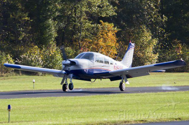 Piper Cherokee (N4513T) - Touching down on runway 6