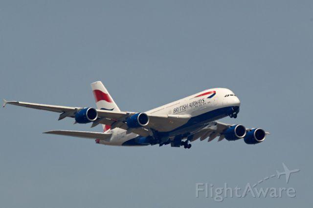 Airbus A380-800 (G-XLEE) - Deploying landing gear
